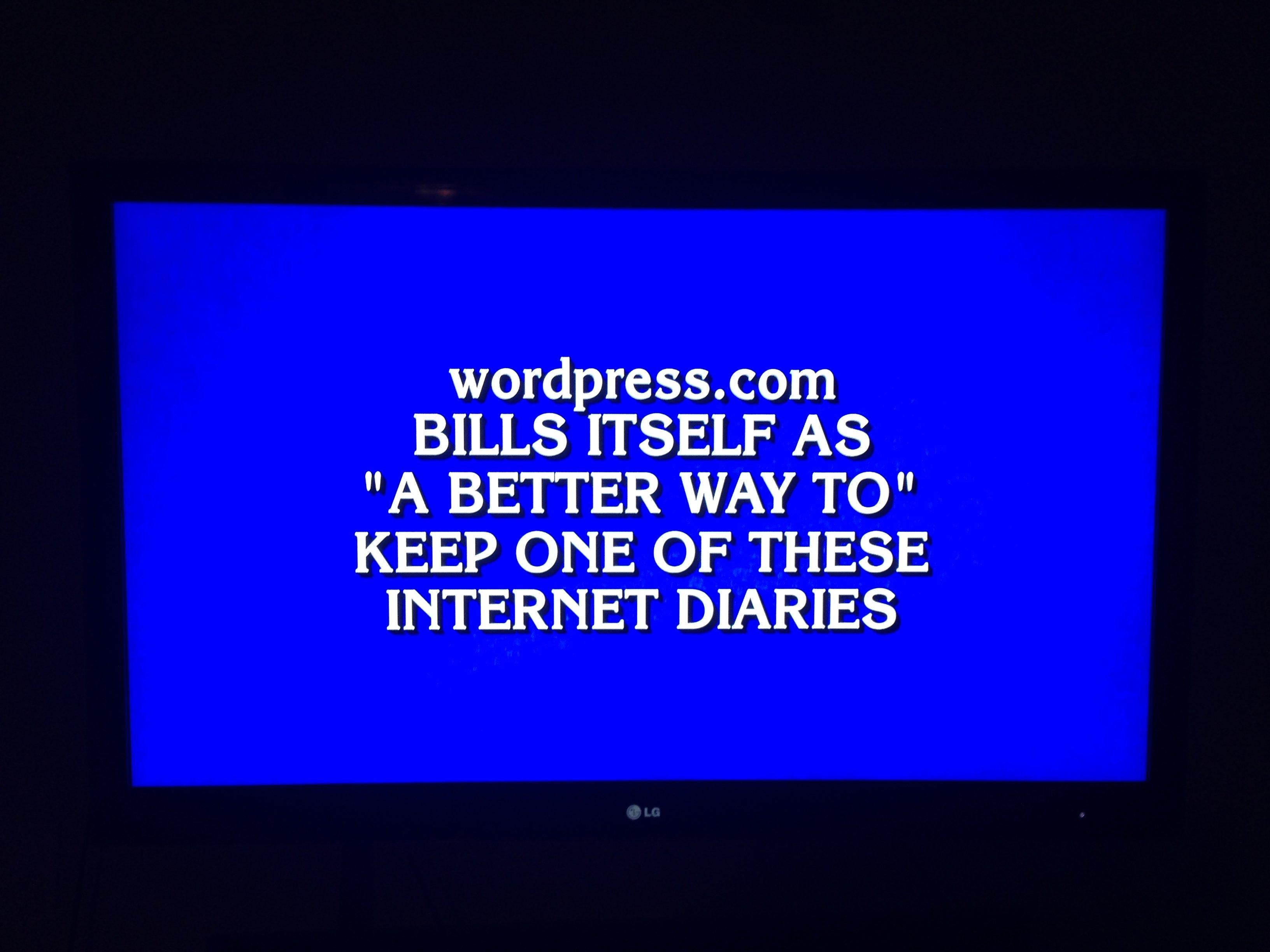 WordPress.com On Jeopardy!